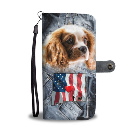 Cute Cavalier King Charles Spaniel Print Wallet Case-Free Shipping-NM State