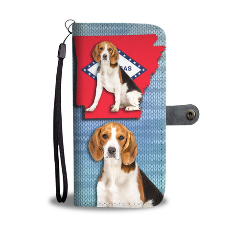 Cute Beagle Print Wallet Case-Free Shipping-AR State