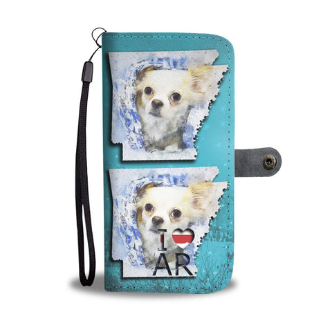 Cute Chihuahua Dog Art Print Wallet Case-Free Shipping-AR State