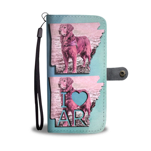 Golden Retriever Art Print Limited Edition Wallet Case-Free Shipping-AR State