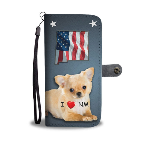 Cute Chihuahua Print Wallet Case-Free Shipping-NM State