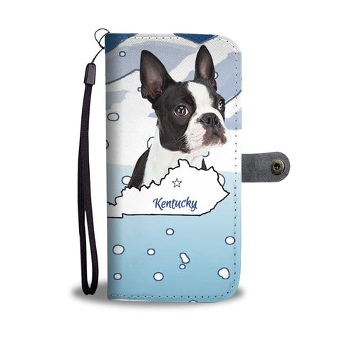 Boston Terrier Print Wallet Case-Free Shipping-KY State