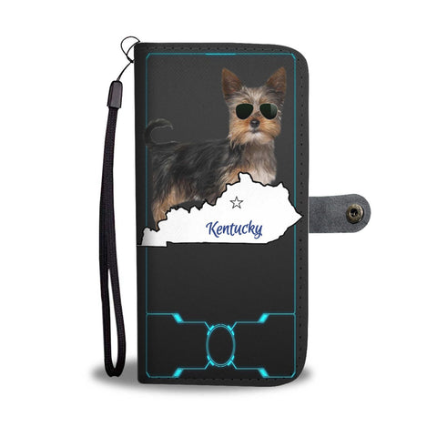 Yorkie Print Wallet Case-Free Shipping-KY State