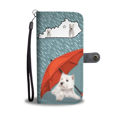 Cute Westie Print Wallet Case-Free Shipping-KY State