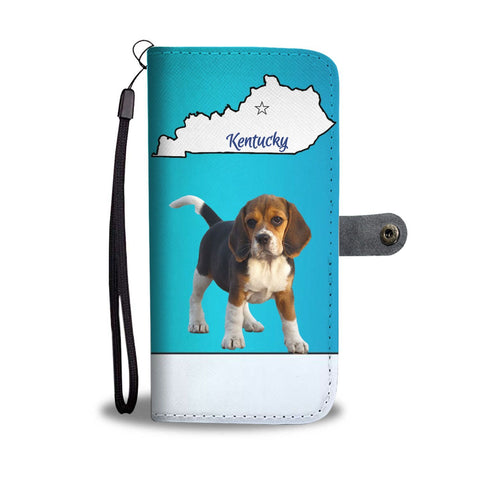 Beagle Print Wallet Case-Free Shipping-KY State
