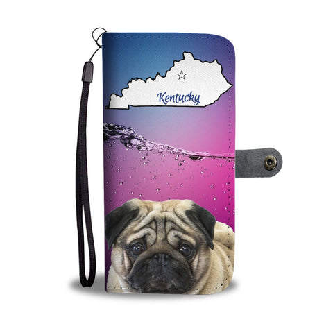 Pug Print Wallet Case-Free Shipping-KY State
