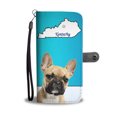 French Bulldog Print Wallet Case-Free Shipping-KY State
