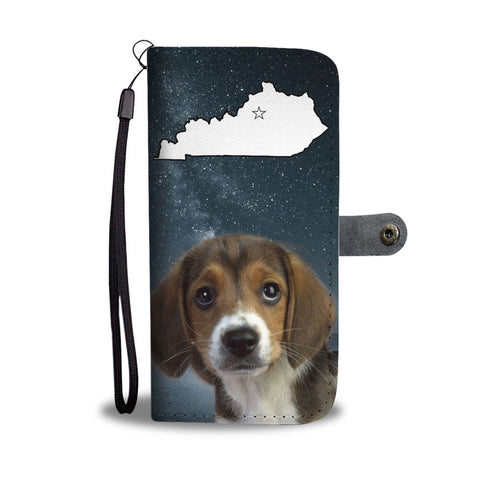 Cute Beagle Print Wallet Case-Free Shipping-KY State