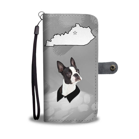 Amazing Boston Terrier Print Wallet Case-Free Shipping-KY State