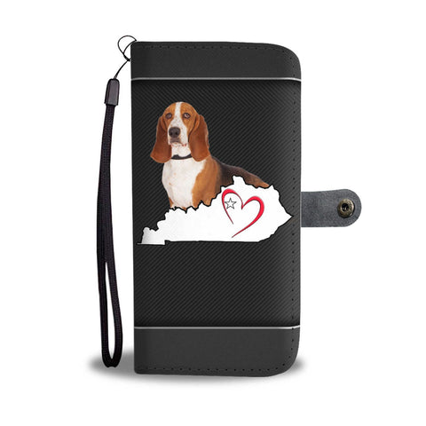 Basset Hound Print Wallet Case-Free Shipping-KY State