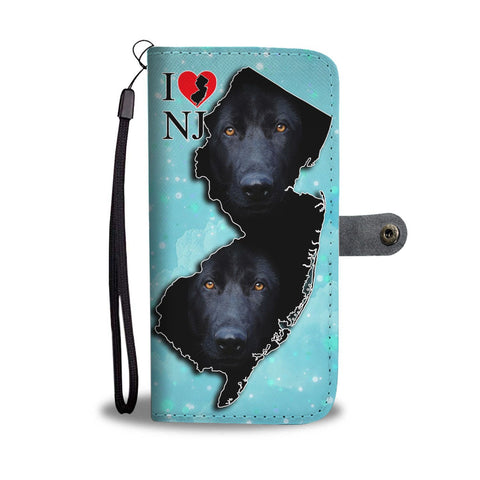 Black German Shepherd Dog Print Wallet Case-Free Shipping-NJ State