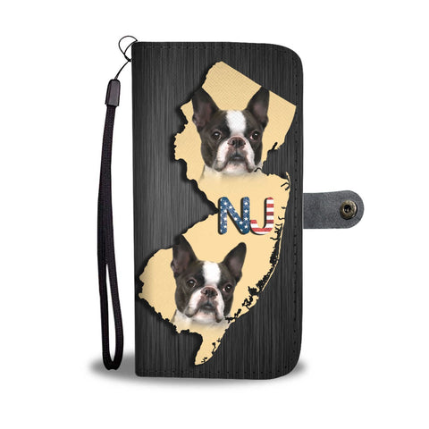 Amazing Boston Terrier Print Wallet Case-Free Shipping-NJ State