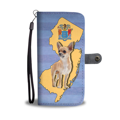 Cute Chihuahua Print Wallet Case-Free Shipping-NJ State