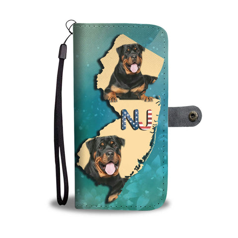 Amazing Rottweiler Dog Print Wallet Case-Free Shipping-NJ State