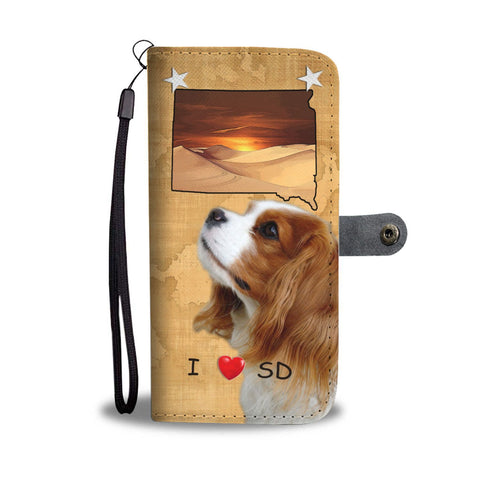 Cute Cavalier King Charles Spaniel Print Wallet Case- Free Shipping-SD State