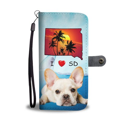 Cute French Bulldog Print Wallet Case-Free Shipping-SD State