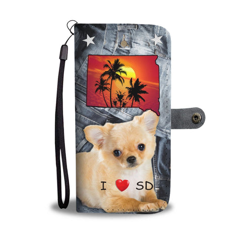 Chihuahua Print Wallet Case-Free Shipping-SD State