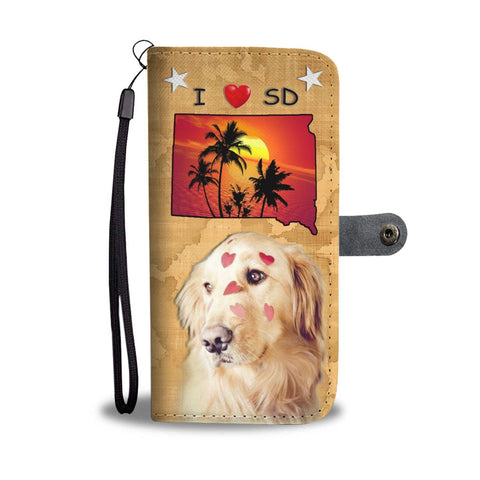 Golden Retriever Print Wallet Case- Free Shipping-SD State