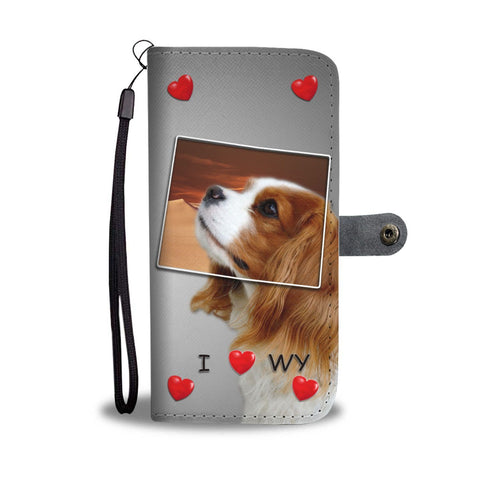 Cavalier King Charles Spaniel Print Wallet Case-Free Shipping-WY State