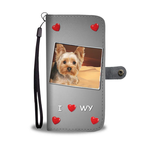 Lovely Yorkshire Terrier Print Wallet Case-Free Shipping-WY State