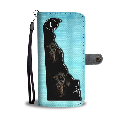 Amazing Rottweiler Dog Print Wallet Case-Free Shipping-DE State