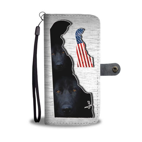 Black German Shepherd Print Wallet Case-Free Shipping-DE State