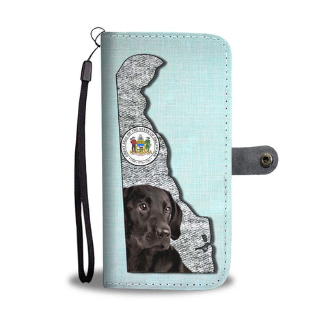 Black Labrador Print Limited Edition Wallet Case-Free Shipping-DE State