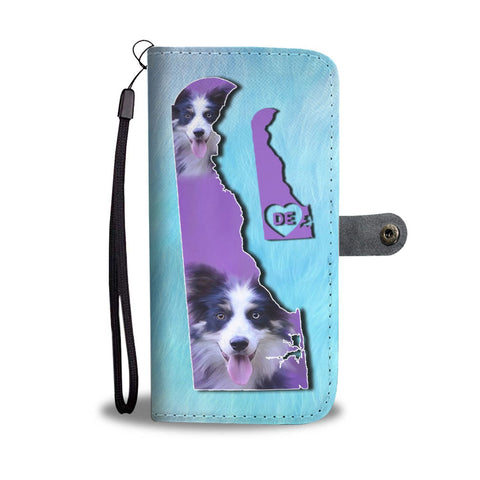 Border Collie Dog Art Print Wallet Case-Free Shipping-DE State