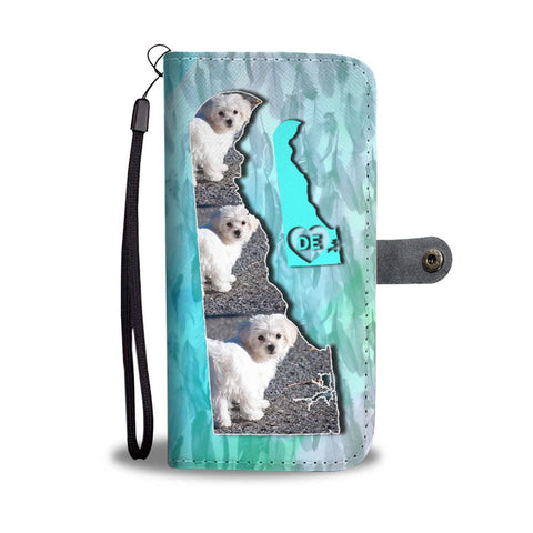 Cute Maltese Dog Print Wallet Case-Free Shipping-DE State