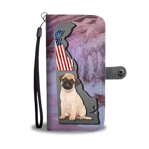 Cute Pug Dog Print Wallet Case-Free Shipping-DE State