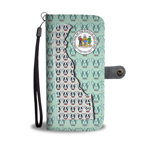 French Bulldog Pattern Print Wallet Case-Free Shipping-DE State