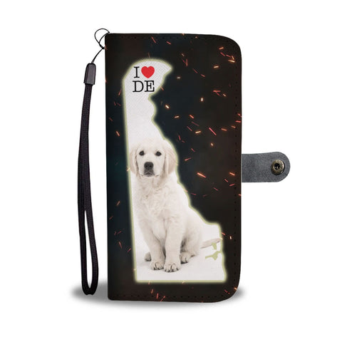 Golden Retriever Cute Puppy Print Wallet Case-Free Shipping-DE State