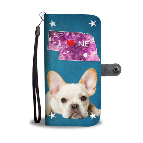 Lovely French Bulldog Print Wallet Case-Free Shipping-NE State