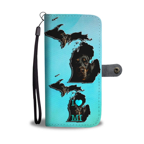 Amazing Rottweiler Dog Print Wallet Case-Free Shipping-MI State