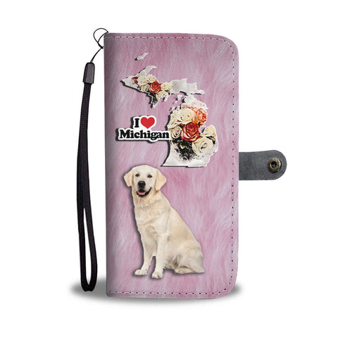 Labrador Retriever Print Wallet Case-Free Shipping-MI State