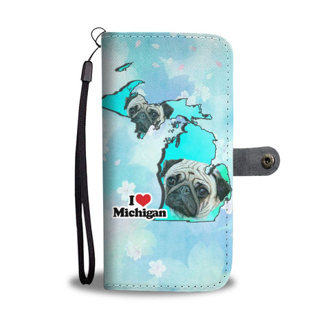 Cute Pug Art Print Wallet Case-Free Shipping-MI State