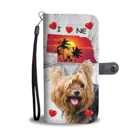 Cute Yorkshire Terrier Print Wallet Case-Free Shipping-NE State