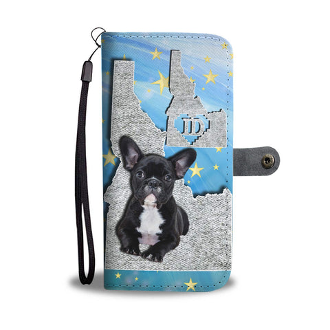 Cute French Bulldog Print Wallet Case-Free Shipping-ID State