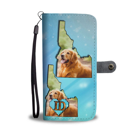 Lovely Golden Retriever Print Wallet Case-Free Shipping-ID State