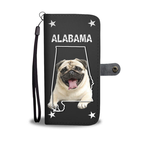 Laughing Pug Dog Wallet Case-Free Shipping-AL State