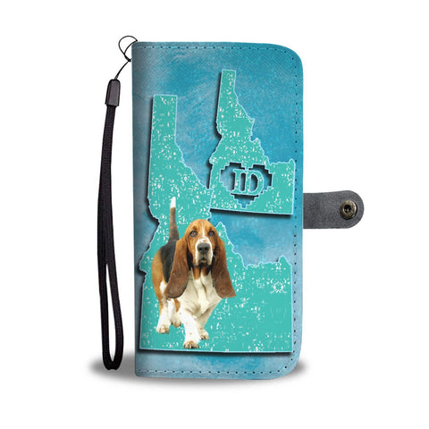 Basset Hound Dog Print Wallet Case-Free Shipping-ID State