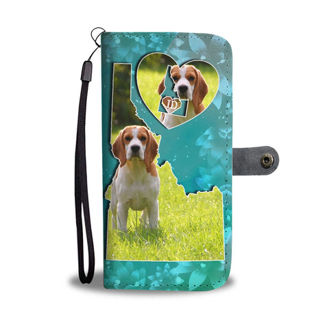 Cute Beagle Print Wallet Case-Free Shipping-ID State