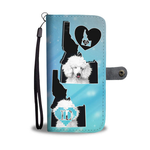 Cute Poodle Dog Print Wallet Case-Free Shipping-ID State