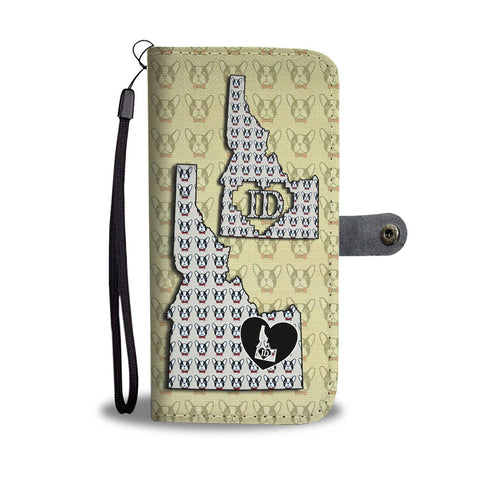 French Bulldog Pattern Print Wallet Case-Free Shipping-ID State