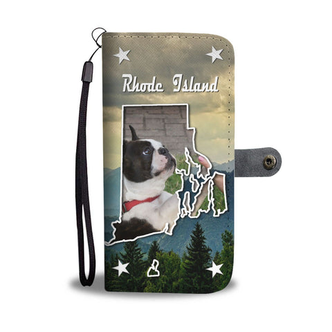 Boston Terrier Print Wallet Case-Free Shipping-RI State