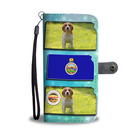 Cute Beagle Print Wallet Case-Free Shipping-KS State
