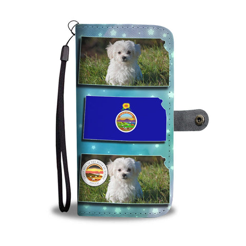 Cute Maltese Dog Print Wallet Case-Free Shipping-KS State