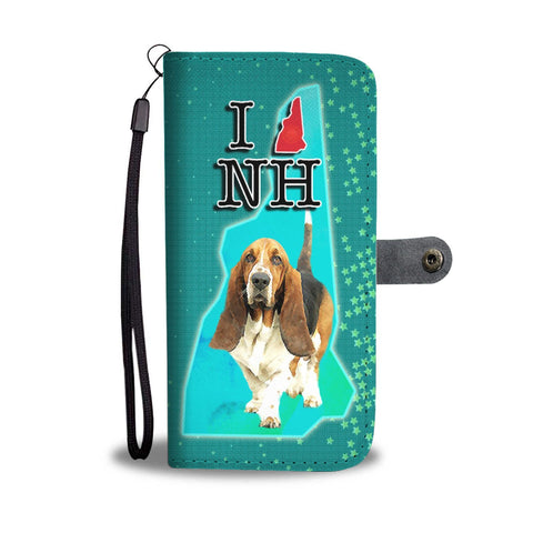 Basset Hound Dog Print Wallet Case-Free Shipping-NH State