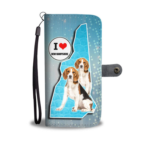 Lovely Beagle Print Wallet Case-Free Shipping-NH State