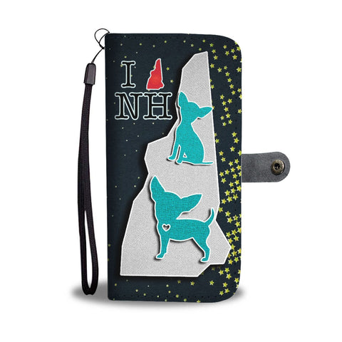 Chihuahua Dog Art Print Wallet Case-Free Shipping-NH State